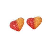 Corazones de melocotón con azúcar