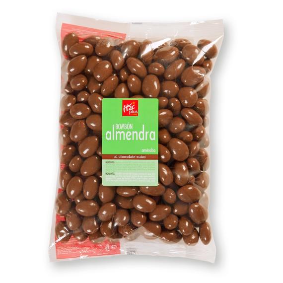 Bombón almendra con chocolate belga