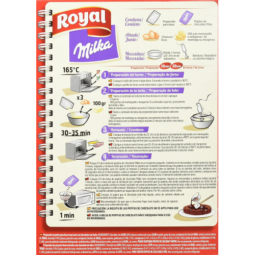 Royal Pastel Chocolate Milka 375 Gr Frutitos