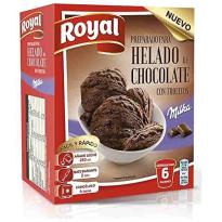 Preparado para Helado de Chocolate con Trocitos MILKA  ROYAL