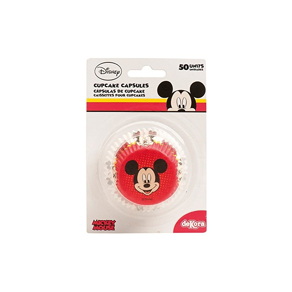 Cápsula Cupcake Mickey 50 Unid