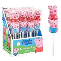 Trolls mashmallow pop, piruleta esponja dulce 16 unid