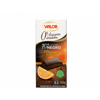 Chocolate negro 70% Mousse de Naranja. 0% Azúcares Añadidos VALOR 150 GR