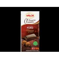 Chocolate puro con Mousse de Trufa. 0% Azúcares Añadidos VALOR 150 GR