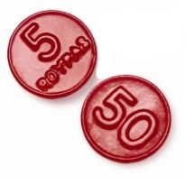 Monedas regaliz Fresa ROYPAS  200 Unid