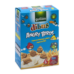 Dibus Angry Birds 6 cereales GULLÓN 250 Gr