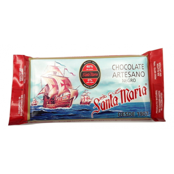 Chocolate Artesano Negro  SANTA MARIA Pack 5*100 Gr