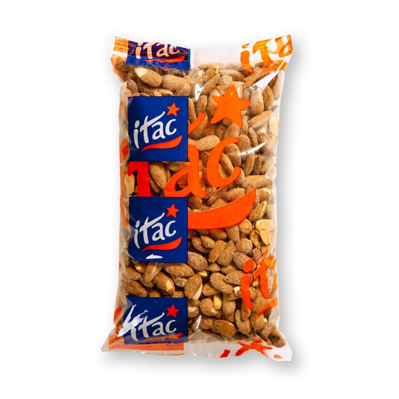 Almendra Tostada con Piel y Salada IMPORTACO ITAC 1 Kg