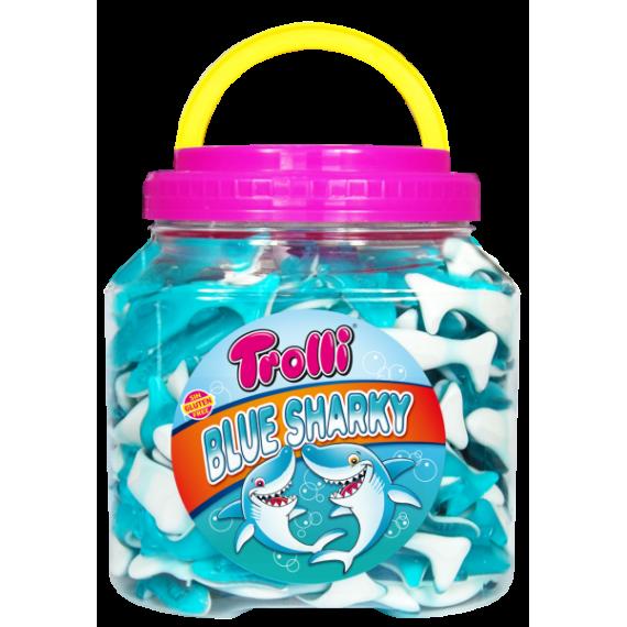 Blue Sharky Ballenas Azules  TROLLI 130 unidades