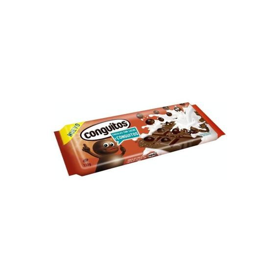 Conguitos Tableta Chocolate con Leche LACASA 110 Gr