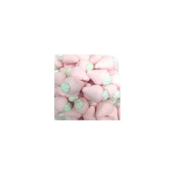 Fresas Pink con Hoja BULGARI Marshmallow 900 Gr