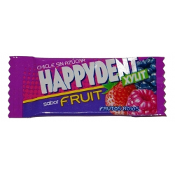 HAPPYDENT XYLIT  Chicle  FRUTOS ROJO 200 Unid
