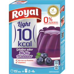 Royal Gelatina Arándano Light - 31 Gramos