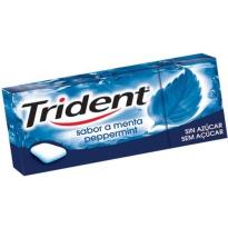 Chicle Gragea Menta Sin Azúcar TRIDENT 24 Unid