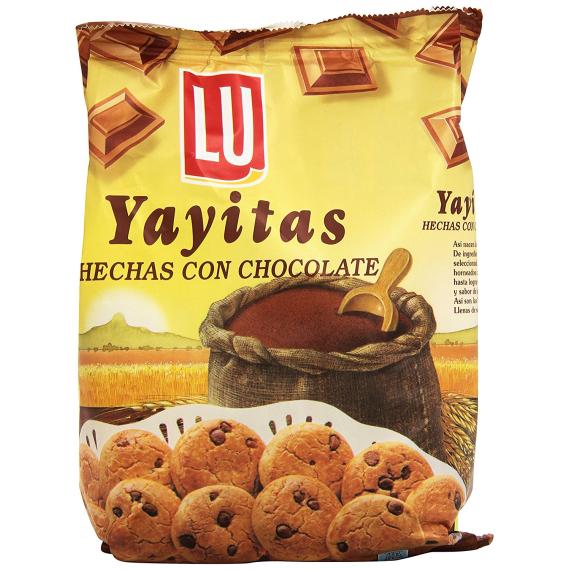 Yayitas hechas con Chocolate LU 250 Gr