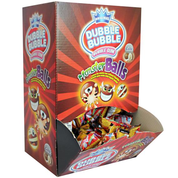 DUBBLE BUBBLE chicle MONSTER BALLS COLA 200 unidades