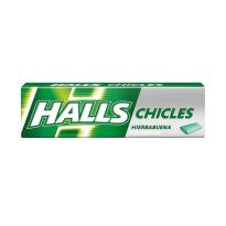 Chicles HALLS Sabor hierbabuena Spearmint  Sin azúcar 25 Unid