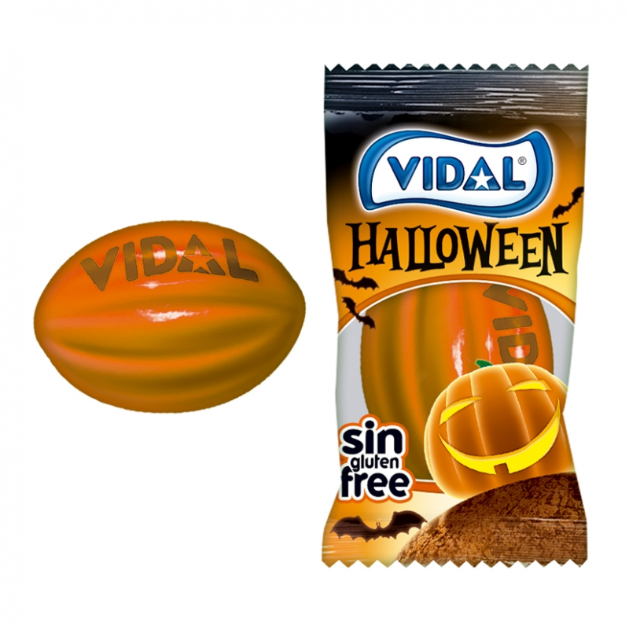 Chicle Naranja Halloween  VIDAL 250 Unid