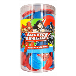 Monedas Chocolate  JUSTICE LEAGUE 550 Gr