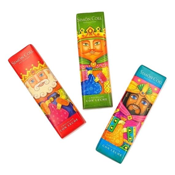 Chocolatina Los tres Reyes Magos SIMON&COLL 54 Gr