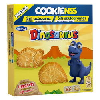 Galletas DINOSAURUS Cookienss Sin Azúcar  185 Gr