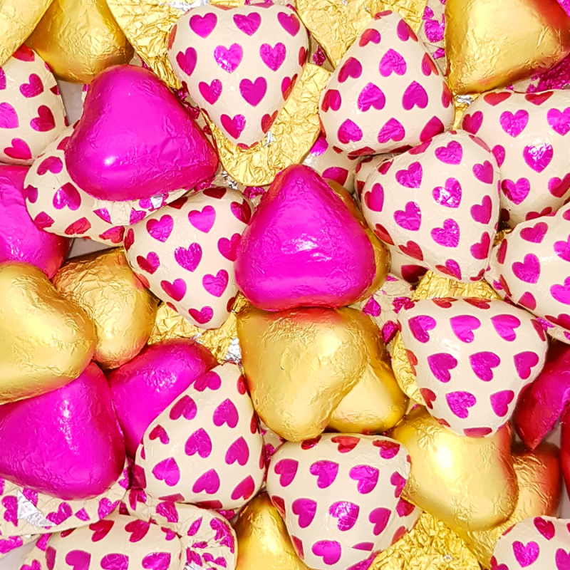 Corazones Surtidos de Chocolate con Leche SORINI 1 kg