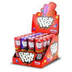 PUSH POP Caramelo duro en stick   20 Unid