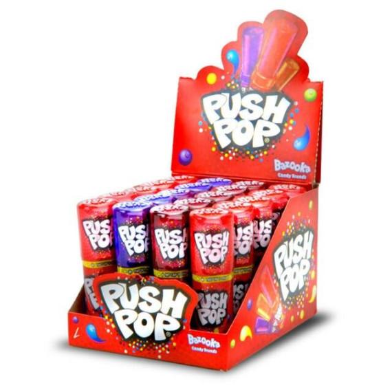 PUSH POP Caramelo duro en stick   20 Unid