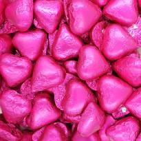 Corazones Rosa Fucsia de Chocolate con Leche SORINI 1 kg