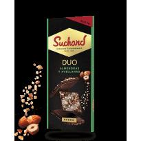 Suchard DUO Chocolate Negro con Almendras  Avellanas 103 Gr