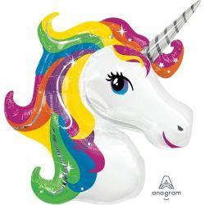 Unicornio Arcoiris Globo Forma