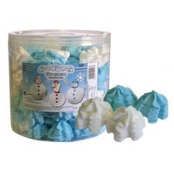 Merengue Marshmallows Azul Blanco GOLMASA 100 Unid