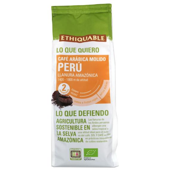 Café Arábica Molido Ecólogico PERÚ ETHIQUABLE 250 Gr