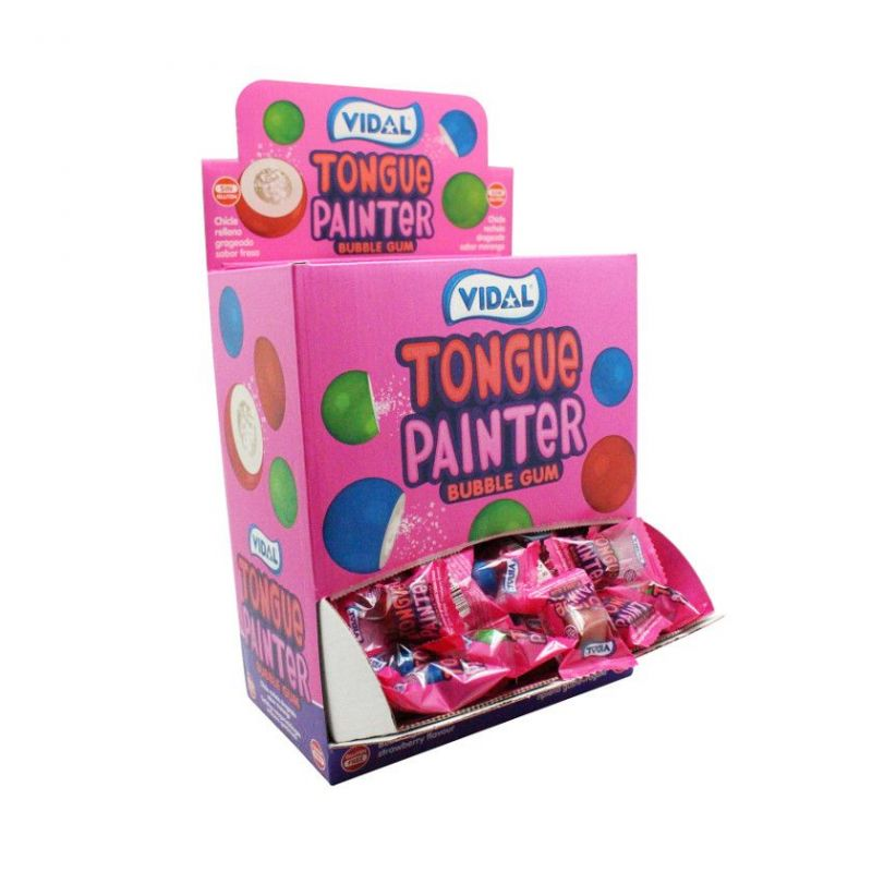 Chicle Pintalenguas TONGUE PAINTER Bubble Gum  VIDAL 200 Unid