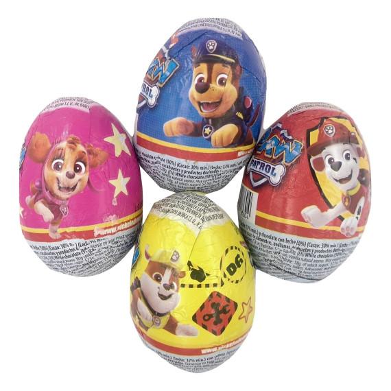 Paw Patrol Patrulla Canina Huevos de Chocolate con Sorpresa  24 Unid