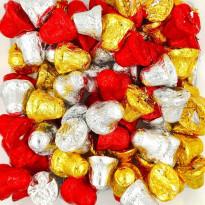 Corazones Oro Dorado de Chocolate con Leche SORINI 1 kg