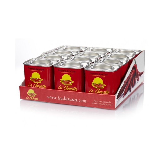 "Pimentón pack de 12 latas 70 gramos Pimentón Ahumado ""La Chinata"""