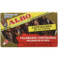 Chipirones en su Tinta Calamares Rellenos ALBO  115Gr