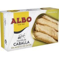 Filetes de Caballa en Aceite de Oliva  ALBO  120 Gr
