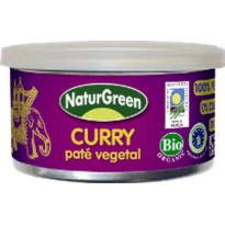 Paté Vegetal CURRY NATRUGREEN  125 Gramos
