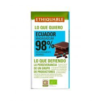 Chocolate Negro 98 % Ecólogico ETHIQUABLE 100 Gramos