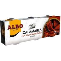 Calamares en Salsa americana  ALBO  3*50 gramos