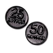 Monedas regaliz Negro ROYPAS  200 Unid