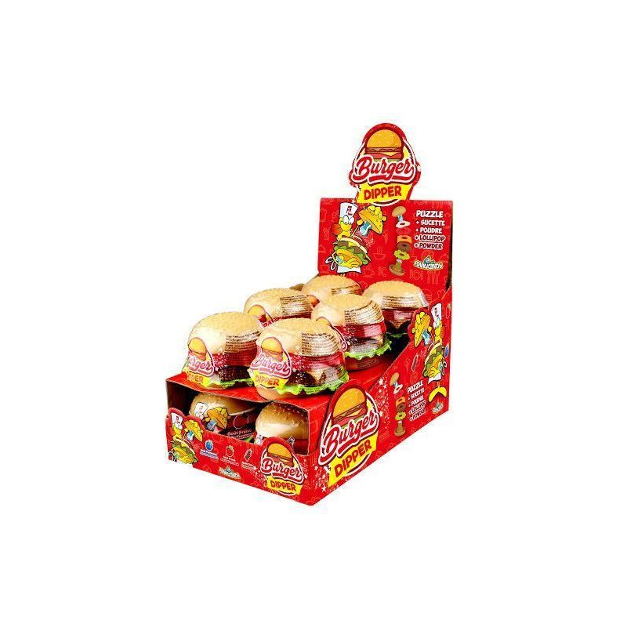 Burger Candy Dipper Pica Pica 12 Unidades