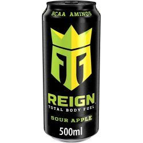 REING Bebida Energética SOUR APPLE - Sabor MANZANA - 500 ML