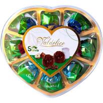 Caja Corazón Bombones Sin Azúcar con Stevia 80 Gramos