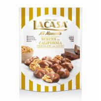 Nueces California Chocolate con Leche Mi Momento LACASA 115 Gramos