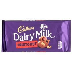 Cadbury Dairy Milk Fruit & Nut Tableta 200 Gramos