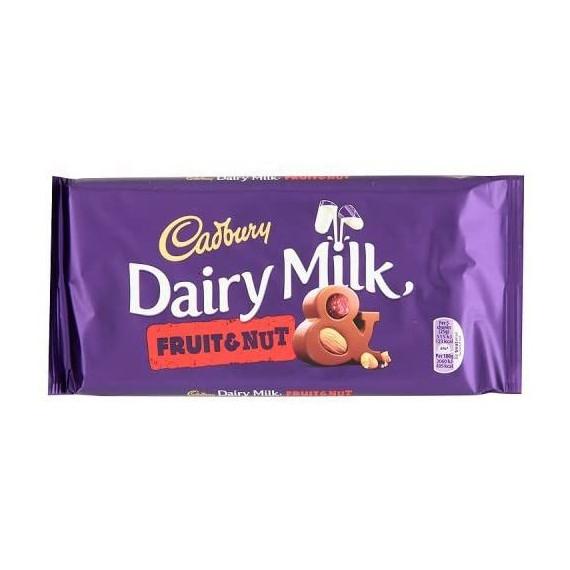 Cadbury Dairy Milk Fruit & Nut Tableta 200 Gramos