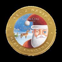 Medallón PAPA NOEL Chocolate con Leche SIMON&COLL 60 Gr